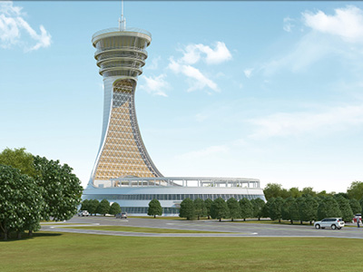 ESENBOGA TECHNICAL BLOCK TOWER BUILDING LANDSCAPE PROJECT